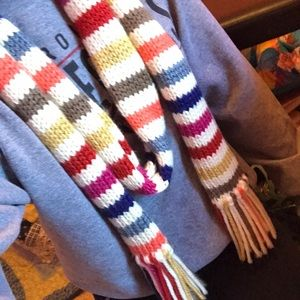 American Eagle Outfitters colorful scarf